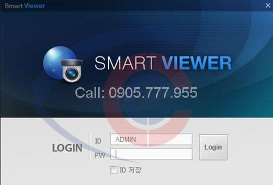 phần mềm smart viewer xem camera samsung trên máy tính